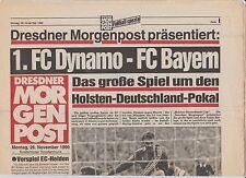 Orig.PRG   HOLSTEN CUP 1990   DYNAMO DRESDEN - BAYERN MÜNCHEN  !!  SELTEN