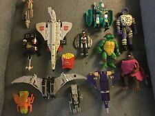 MIXED LOT OF VINTAGE FIGURES TMNT TRANSFORMERS gobots