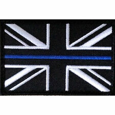 Thin Blue Line - Police - Union Flag Sew On Patch + Velcro Backing NEW