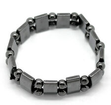 Magnetico Ematite Guarigione Bracciale Elasticizzato, Gunmetal, uomo o donna
