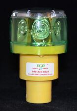 S6LRF 1NM GREEN LED SOLAR REVOLVING OR FLASHING LIGHT LIGHTHOUSE BARRICADE