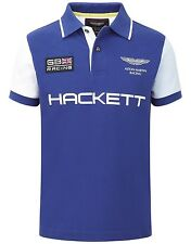 Hackett Kids Short Sleeved Aston Martin Racing Polo Shirt Blue Aged 5-6 Years