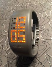Rare Philippe Starck PH1056 Gray 'Light Box' Watch, New Battery, Exc!