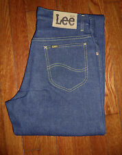 BRAND NEW OLD STOCK RAW/CRISP/UNWASHED LEE JEANS MADE IN USA from 1970s 30x37