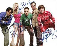 Big Bang Theory signed all cast 8X10 photo picture poster autograph RP