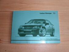 Lotus Omega Carlton Owners Handbook Betriebsanleitung