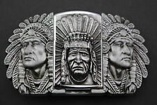 INDIAN CHIEF LIGHTER BELT BUCKLE WESTERN COWBOY METAL
