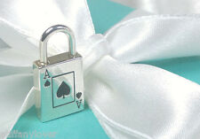 Tiffany & Co. Black Enamel Ace of Spades Lock Charm Opens Sterling Silver 925