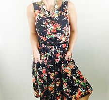 TIMELESS BY VANNESSA TONG DESIGNER FLORAL LINED WORK DRESS SZ 8