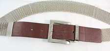 Michael Kors Mesh Chain and Brown Leather Belt (Size Large) 553103 MSRP $60.00