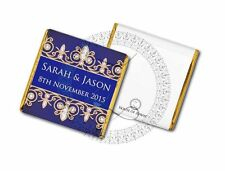 50 Personalised Blue and Gold Wedding Party Celebration Favour Chocolates