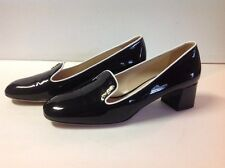 PRADA Heel Black & White Patent Leather PUMP Shoe 39 WOMENS New Condition
