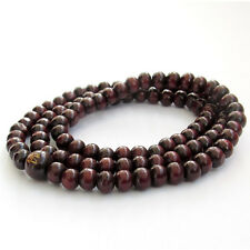 Wood Tibet Buddhist Prayer Worry Beads Mala Necklace--108Beads--6mm