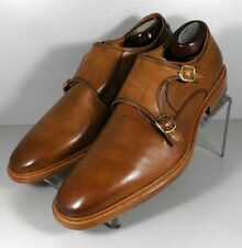 247396 FTi60 Men's Shoes Size 9 M Tan Leather Made in Italy Johnston Murphy
