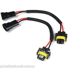 2pcs H8 H9 H11 Headlight Fog Lamp Male Female Pigtail Connector Wiring Harness