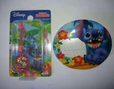 Disney Japan Lilo & Stitch Cell Strap Dangle Charm & Pin ID Holder