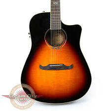 Fender T-Bucket 300ce Flame Maple Dreadnought in 3 Tone Sunburst Demo Model