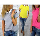 Fashion Women Casual Short Sleeve Loose Summer Chiffon T-shirt Tops Shirt Blouse