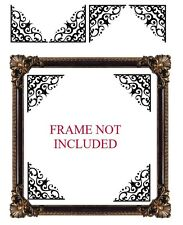 4 X CUT VINYL DECAL STICKERS FOR MIRROR / FRAME CORNER DECORATION STYLE 05