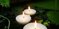 10 Large Big 8cm Floating White Wax Candle 6-7 burn hour wedding party birthday