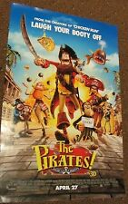 "3 Lot  POSTER - THE PIRATES BAND OF MISFITS in 3D - 11"" x 17"" double sided"