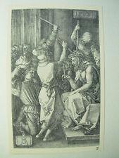 Albrecht DURER VINTAGE incisione su rame CRISTO CORONA DI SPINE-PASSIONE N. 7