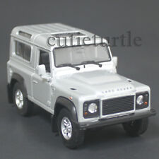 "4.25"" Welly Land Rover Defender Diecast Toy Car Silver"