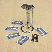 Micro Touch One Razor Classic Safety Double Edge with 12PCS Extra Blades Stand