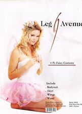 SEXY PINK FAIRY 4 PC COSTUME Leg Avenue Adult HALLOWEEN Size-Most w/Wings & Wand