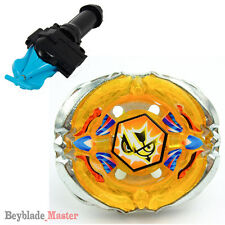 Fusion METAL Beyblade Masters BB126 Flash Sagittario+BLUE STRING LAUNCHER+GRIP