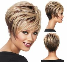 New Fashion Short Pixie Bangs Straight Hairstyle Synthetic Hair Wigs For Women