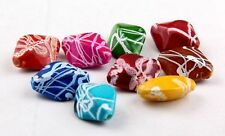 Free Ship 50Pcs Mixed Acrylic Loose Spacer Beads 17x13mm