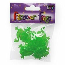 10 Green Plastic Jumping Frogs for Passover for Seder night Pesach gift for kids