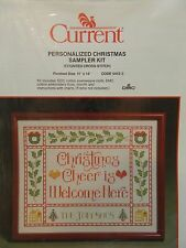 Current Counted Cross Stitch Kit Christmas Cheer Is Welcome Here Personalized