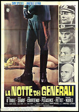 LA NOTTE DEI GENERALI MANIFESTO CINEMA PETER O'TOOLE OMAR SHARIF MOVIE POSTER 4F