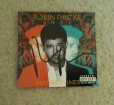 ROBIN THICKE Signed BLURRED LINES CD BOOKLET
