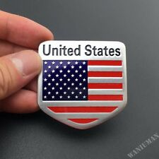 American USA Flag Shield Emblem Badge Sticker Car Side Trunk Lid Motorcycle Tank