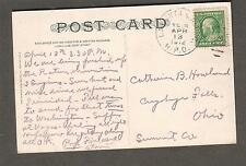 1912 Mexican Water Carrier pc La Junta & Albuquerque RPO to Cuyahoga Falls OH