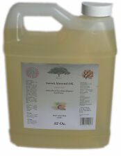 PURE SWEET Almond OIL  32 Oz  Organic FREE Shipping NATURAL MASSAGE carrier Oil