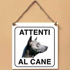 Thai Ridgeback 3 Attenti al cane Targa piastrella cartello ceramic tile sign dog
