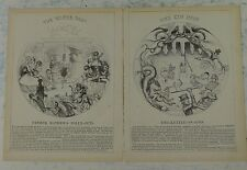 "2x7x10"" punch cartoon 1843 FATHER MATHEWS POLLY PUT THE KETTLE ON temperance"