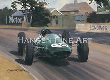 Formula 1 F1 Jim Clark Lotus Grand Prix Motor Sport Racing Classic Car Art Print
