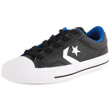 Converse Cons Star Player OX Unisex Trainers Leather Black White New Shoes 3 UK