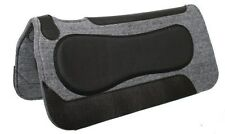 "Showman 32""x32"" Gray Wool Blend Saddle Pad With Neoprene Build Up! NEW TACK!!"