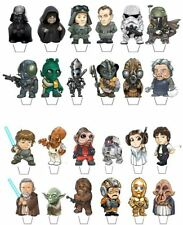 *NEW* 24 STAR WARS STUBBIES EDIBLE CUPCAKE/FAIRY CAKE TOPPERS **STAND UPS**HK3