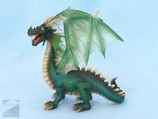 """Schleich 2003 Green Medieval Dragon 5.5"""" Toy Fantasy Collectible GREAT Condition"""