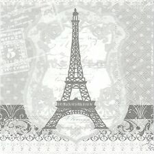 2 Serviettes en papier Paris Tour Eiffel - Paper Napkins Eiffel Tower