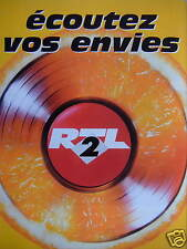 PUBLICITÉ 1996 RTL 2 - ÉCOUTEZ VOS ENVIES - DISQUE VINYL - ADVERTISING