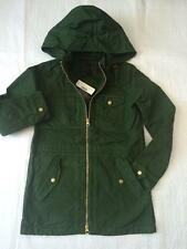 J.CREW Womens Green Anorak Coat Jacket NWT Size XS Extra Small FREE SHIPPING