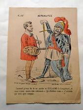 Actualités n°26 Empereur GUILLAUME  affiche caricature humour Guerre 1870/71